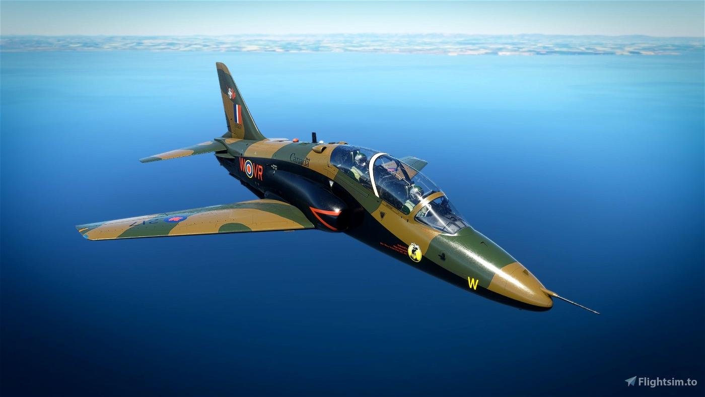Indiafoxtecho Boeing T-45C Goshawk RCAF Hawk Royal Canadian Air Force Camo livery. Flight Simulator 2020