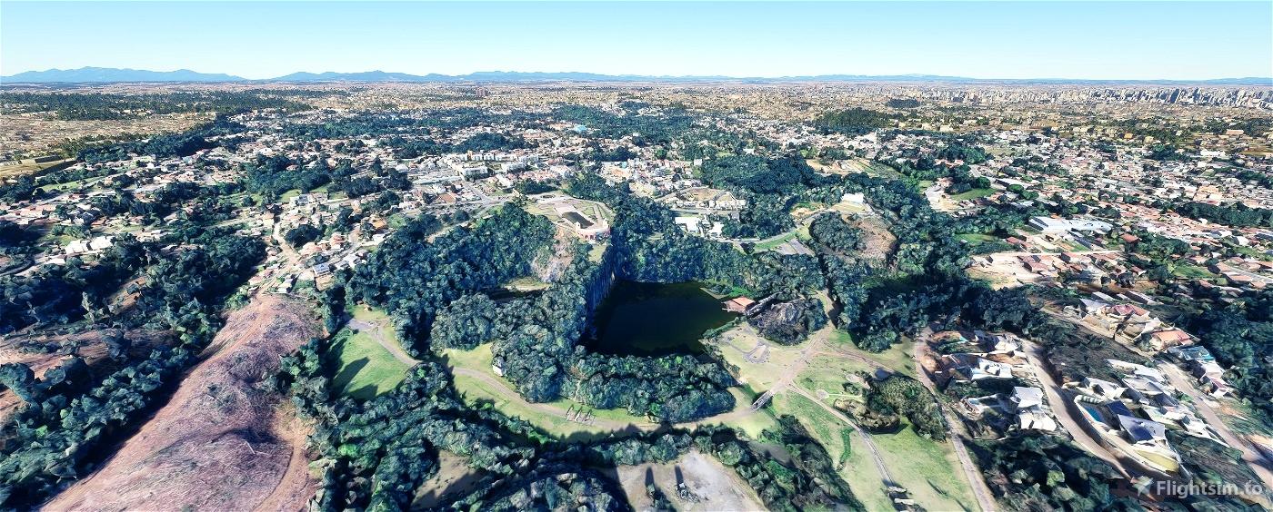 Curitiba - Parque Tanguá, Pedreira Paulo Leminski, Ópera de Arame e Parque São Lourenço Flight Simulator 2020