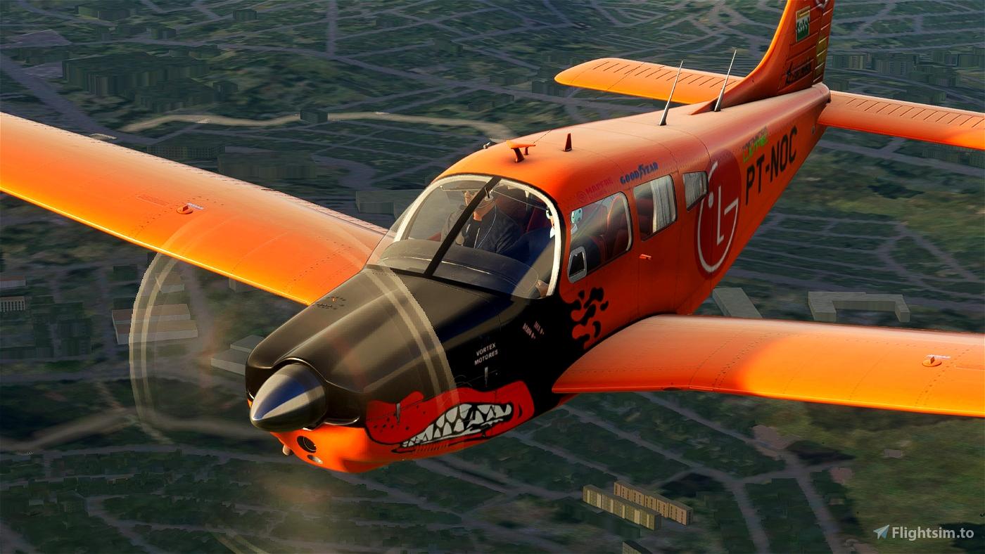 "JustFlight PA28R Arrow III - Embraer EMB-711 Corisco - PT-NOC ""Perdigueiro"" Microsoft Flight Simulator"