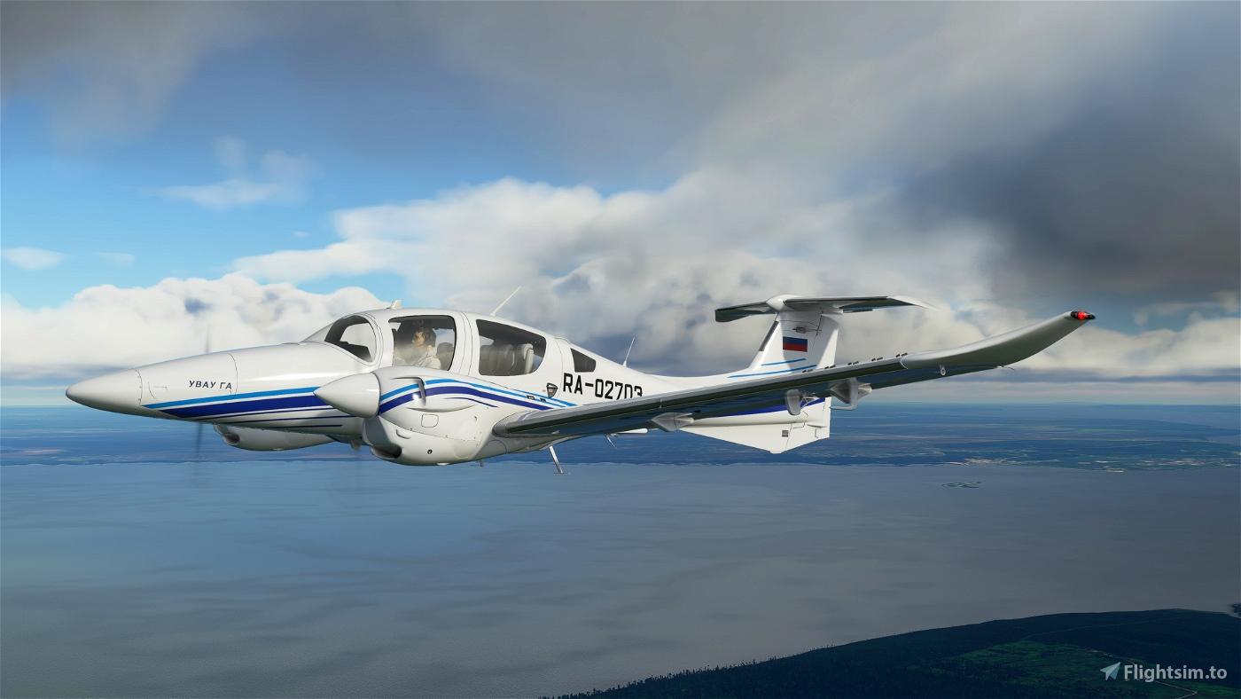 Diamond DA-62  RA-02703 УВАУ ГА  8k/3d[fictional instead DA-42] Microsoft Flight Simulator