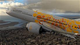 Boeing 787 Emirates Expo Orange Microsoft Flight Simulator