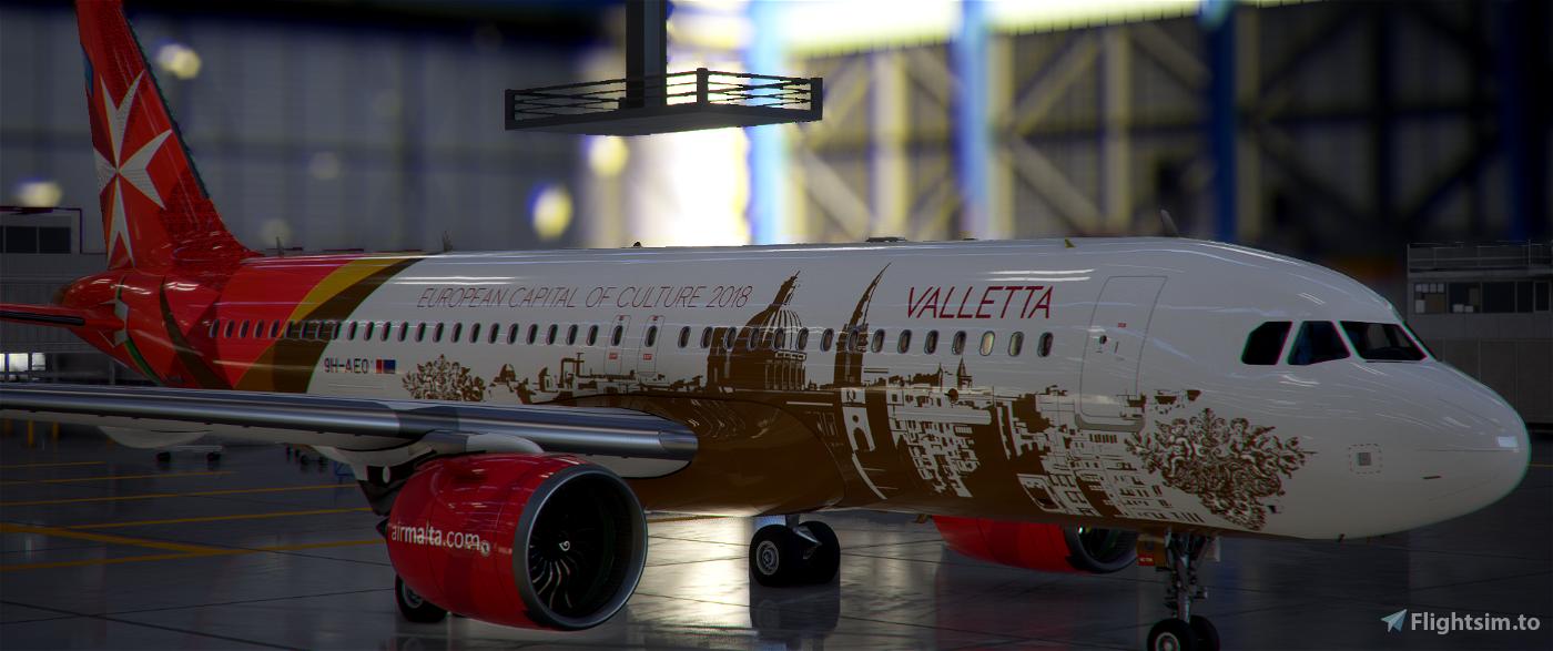 [A32NX] | [8K] Air Malta 9H-AEO (Capital of culture 2018) Very Detailed Clean/Dirty Version