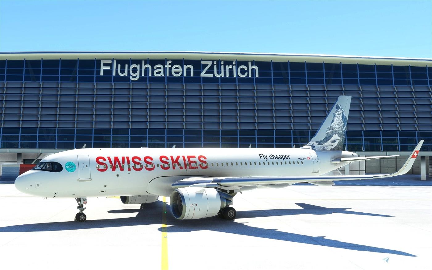 [A32NX] FBW_A320_NEO Swiss Skies (Fictional) Microsoft Flight Simulator