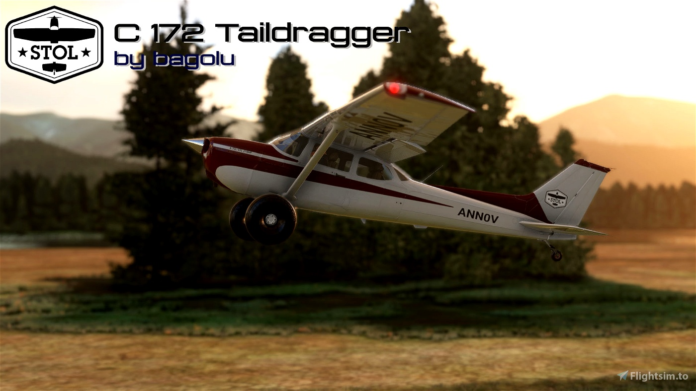 Cessna 172 Tail dragger