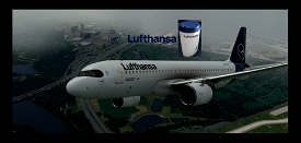 FlyByWire[A32NX]  Lufthansa  [10K] Ultra No Text Mirroring With Custom Coffee Cup D-AIJD Microsoft Flight Simulator