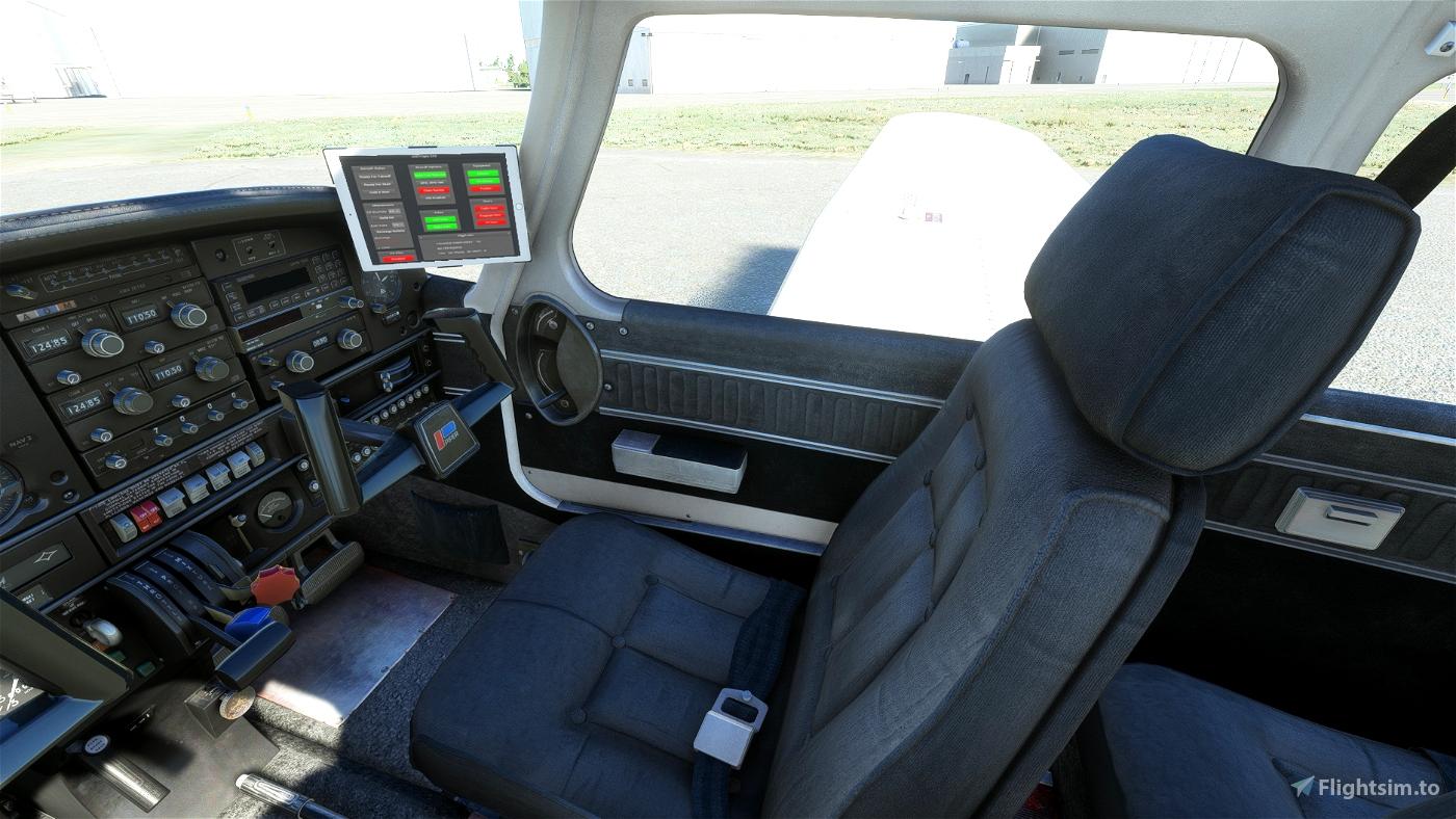 JustFlight Piper PA28 Turbo Arrow IV - Clean Grey Interior