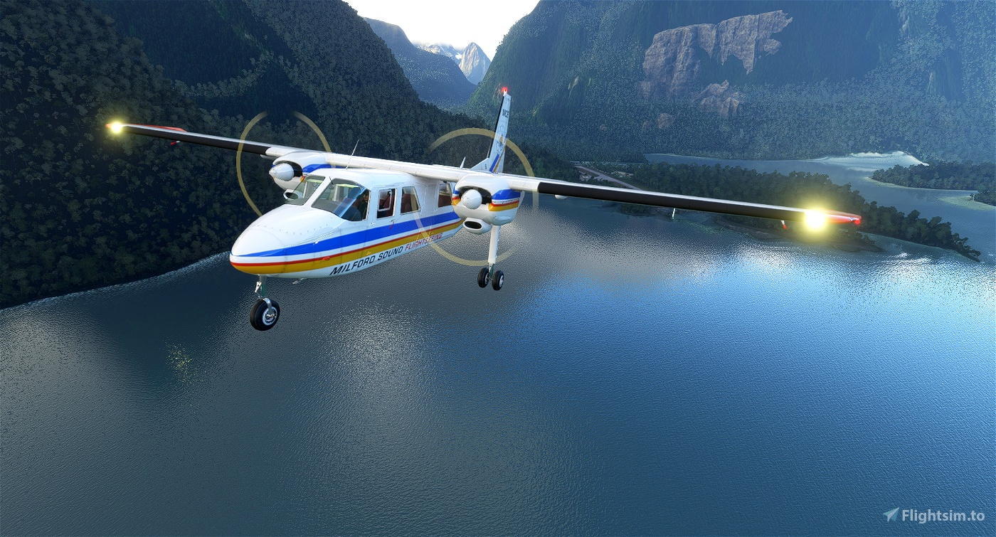 BlackBox Britten-Norman BN-2 Islander Mount Cook Airline ZK-MCE