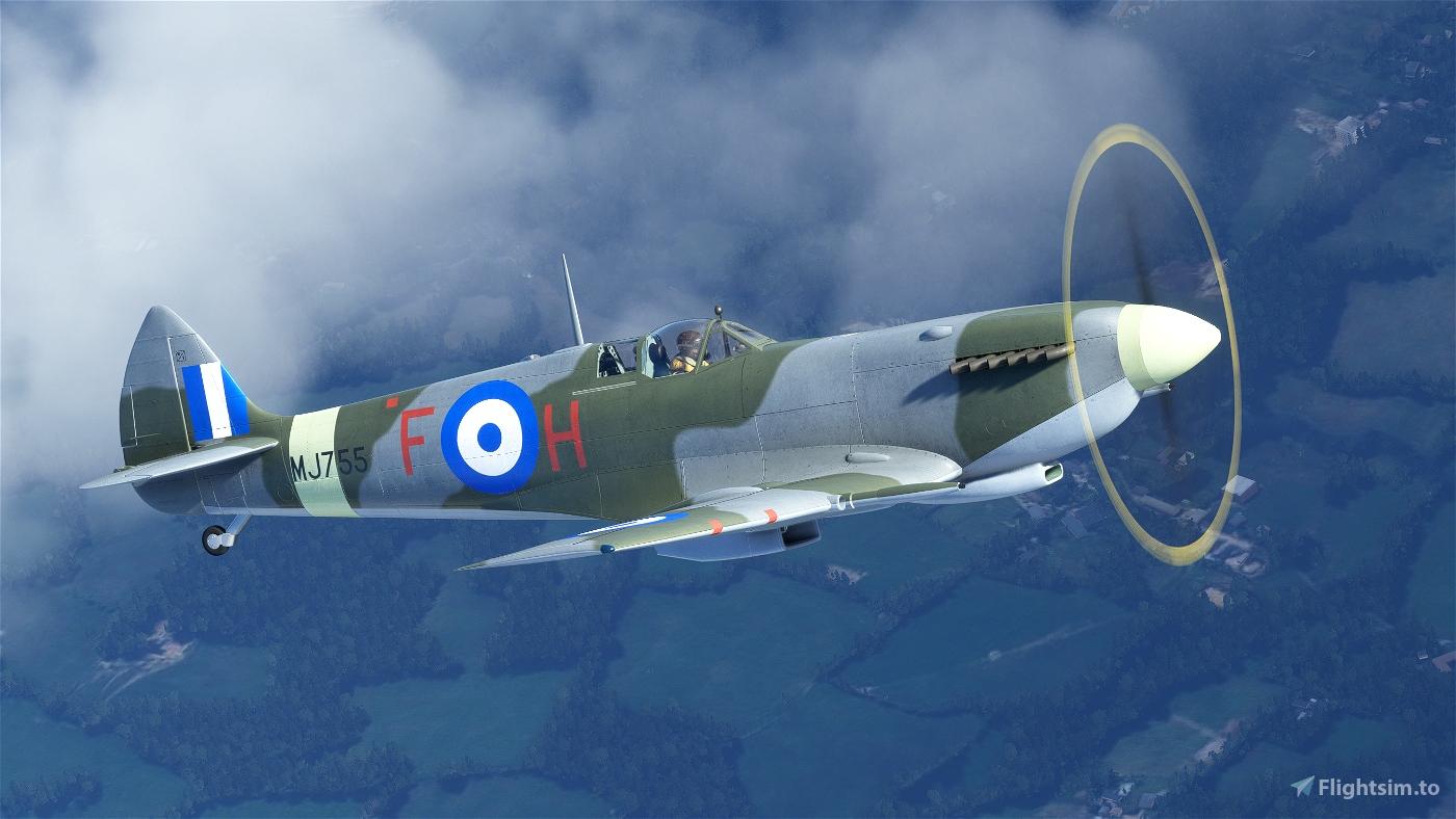 "Spitfire Mk.IX MJ755 ""The Greek Spitfire"" (G-CLGS) Flight Simulator 2020"