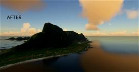 Vaeroy, Lofoten - terraformed scenery DEM3 Microsoft Flight Simulator