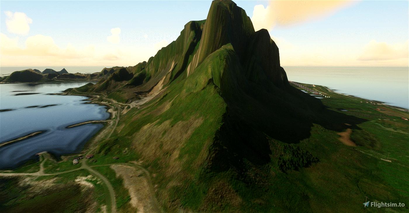 Vaeroy, Lofoten - terraformed scenery DEM3
