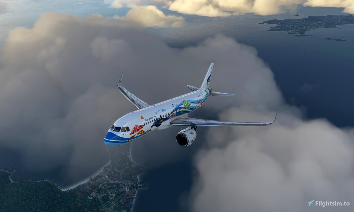 A320 Bangkok Airlines HS-PGW Samui Livery 8K - Asobo version