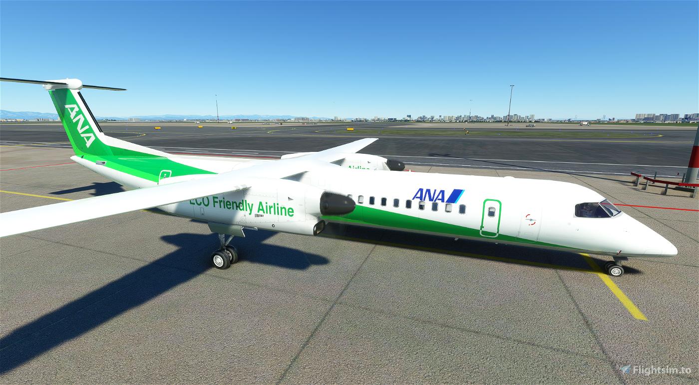 Dash8 Q400 ANA Wings EcoBon [4K]