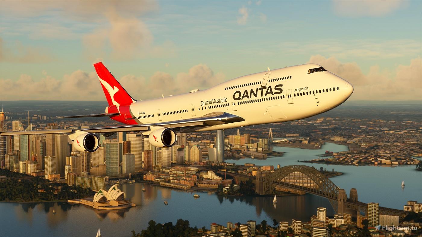 Qantas VH-OEJ Ultra [No Mirroring] Microsoft Flight Simulator