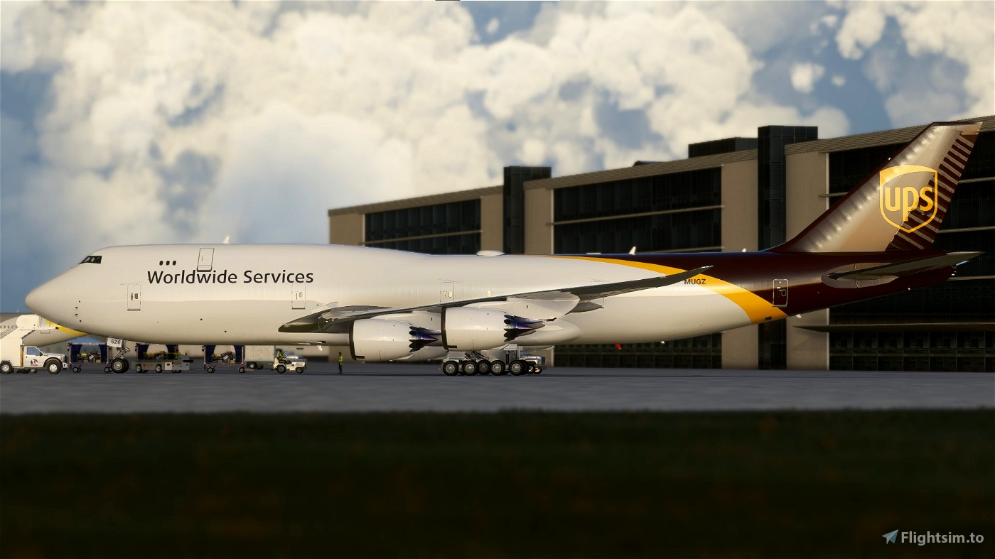 [ULTRA][NO-MIRROR] Asobo Boeing 747-8i UPS United Parcel Service (N626UP)