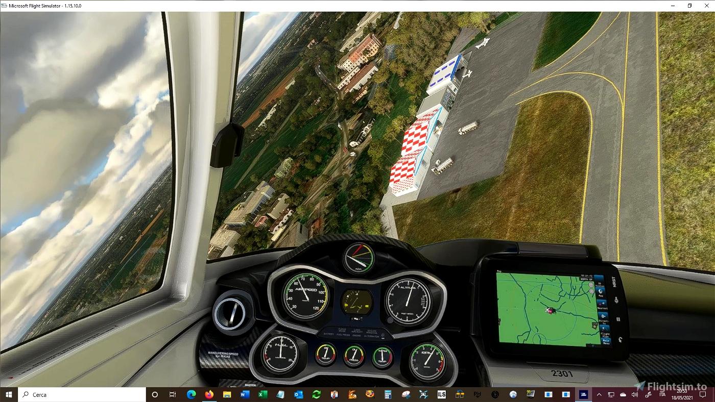 Aeroporto di REGGIO EMILIA, F. Bonazzi Airport (LIDE) Microsoft Flight Simulator