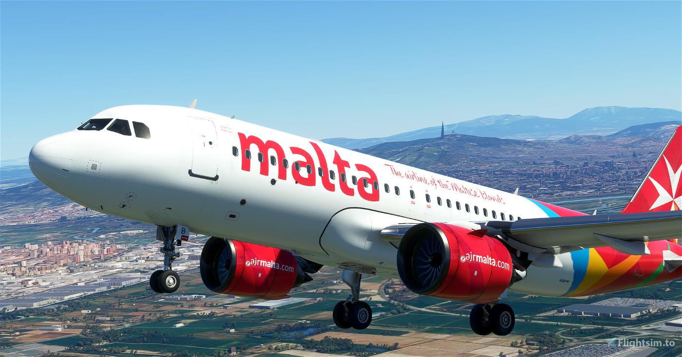 [A32NX] | [8K] Air Malta (9H-NEB) Very Detailed Clean/Dirty Version