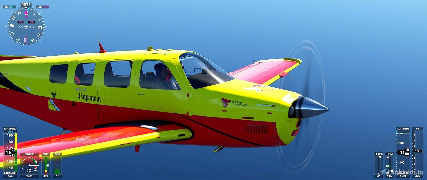 Beechcraft Bonanza Voronezh Aviation Club Flight Simulator 2020