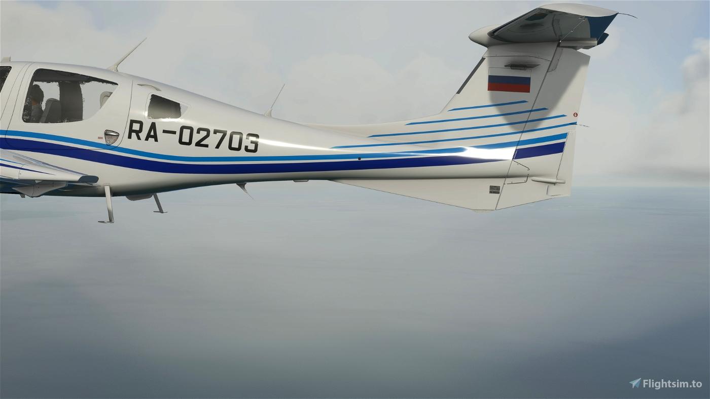 Diamond DA-62  RA-02703 УВАУ ГА  8k/3d[fictional instead DA-42]
