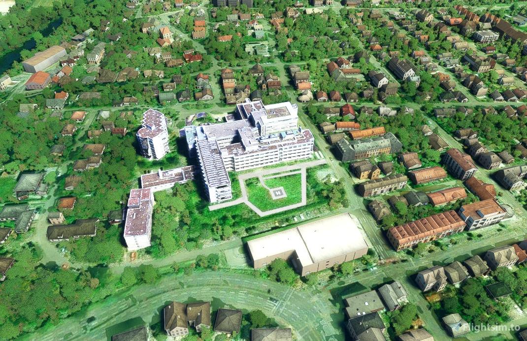Helipad Clinic Bietigheim-Bissingen (CHBH) Microsoft Flight Simulator