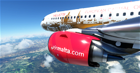 [A32NX] | [8K] Air Malta 9H-AEO (Capital of culture 2018) Very Detailed Clean/Dirty Version Microsoft Flight Simulator