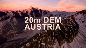 AUSTRIA 20m DEM - High Resolution Terrain Elevation Data from LIDAR Imaging Microsoft Flight Simulator