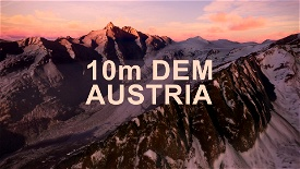 AUSTRIA 10m DEM - High Resolution Terrain Elevation Data from LIDAR Imaging Microsoft Flight Simulator