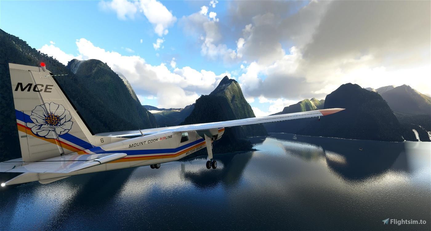 BlackBox Britten-Norman BN-2 Islander Mount Cook Airline ZK-MCE  Microsoft Flight Simulator