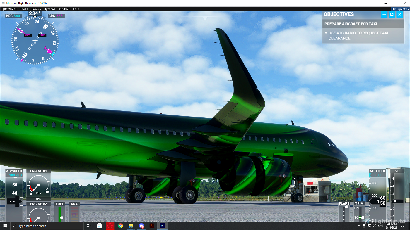 A320 Neo 4K Green Marble Livery