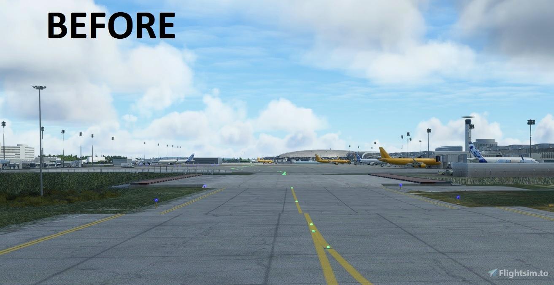 LFPG underpass taxiways flatten Microsoft Flight Simulator