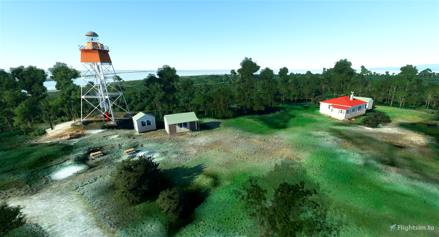 Farewell Spit Lighthouse and Airstrip Microsoft Flight Simulator