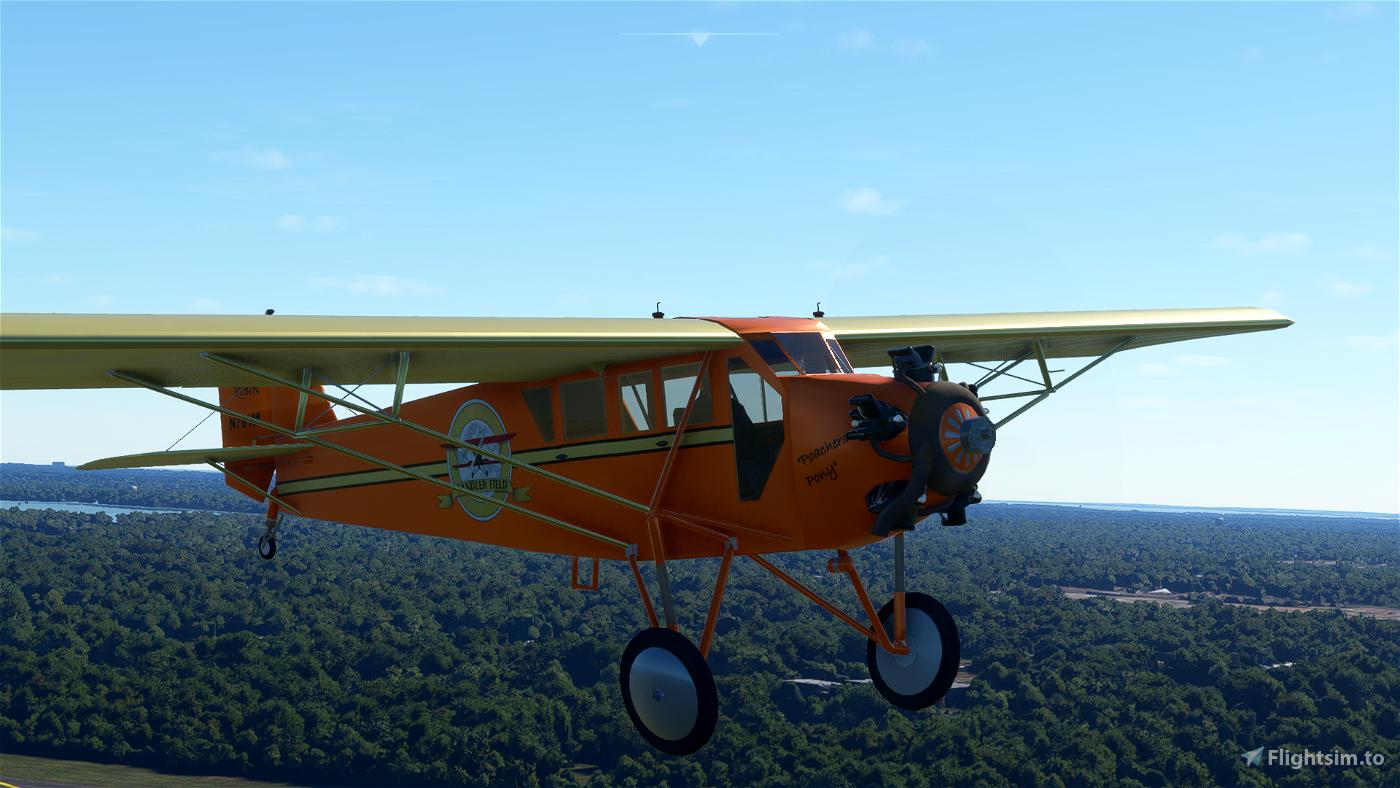 Golden Age Simulations Curtiss J1 Robin (Working Gauges)