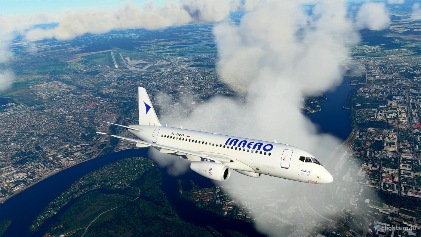 Sukhoi Superjet 100 IrAero Microsoft Flight Simulator