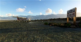 The Chicken Strip - Death Valley's National Parks unofficial airstrip! Microsoft Flight Simulator