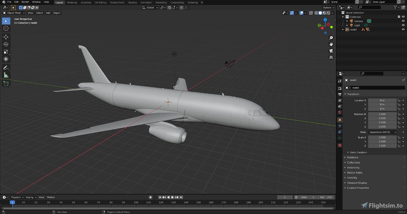 Sukhoi Superjet 100 Blender-friendly model for re-paint Microsoft Flight Simulator