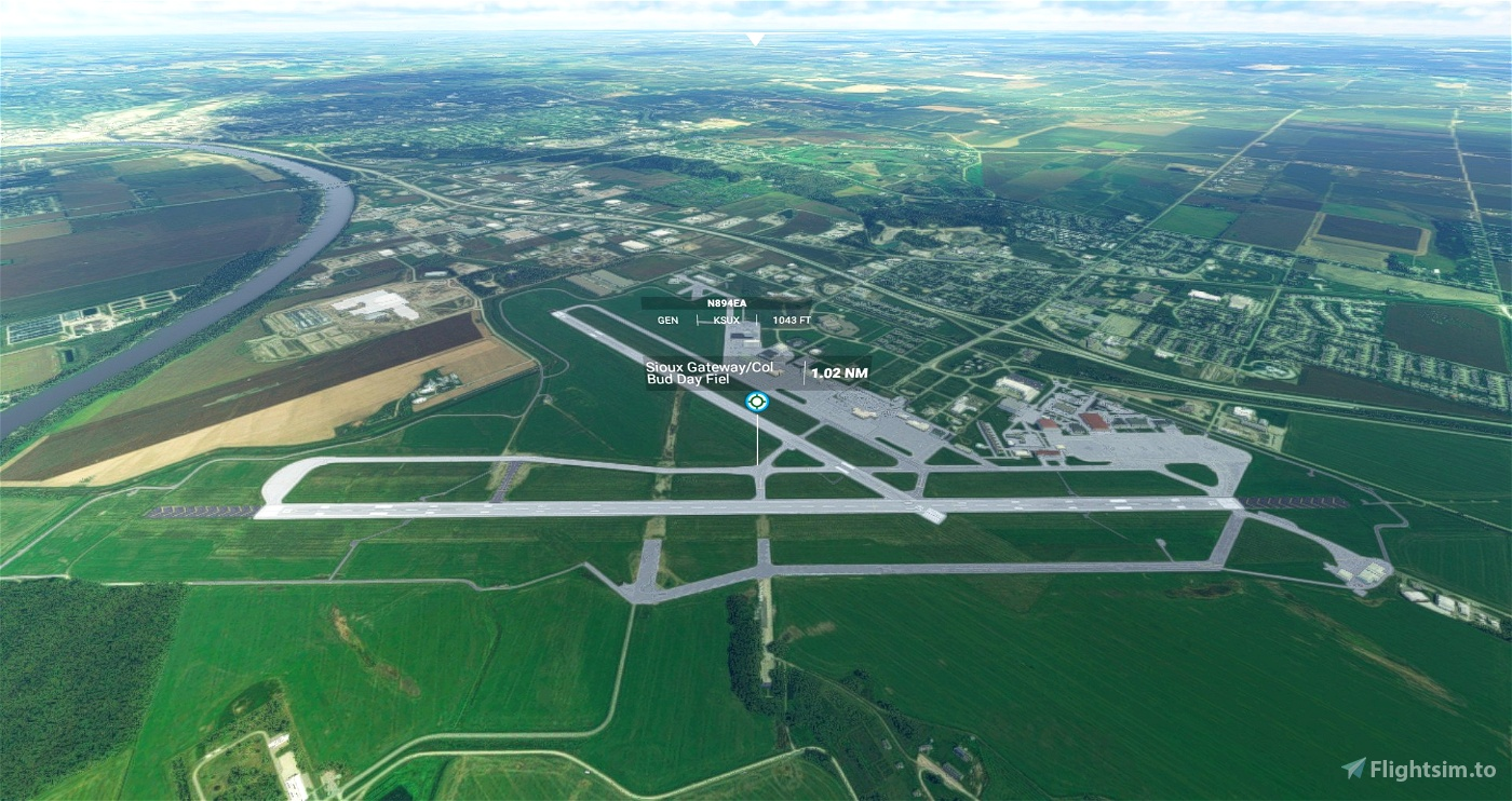 KSUX Sioux Gateway Airport Flight Simulator 2020