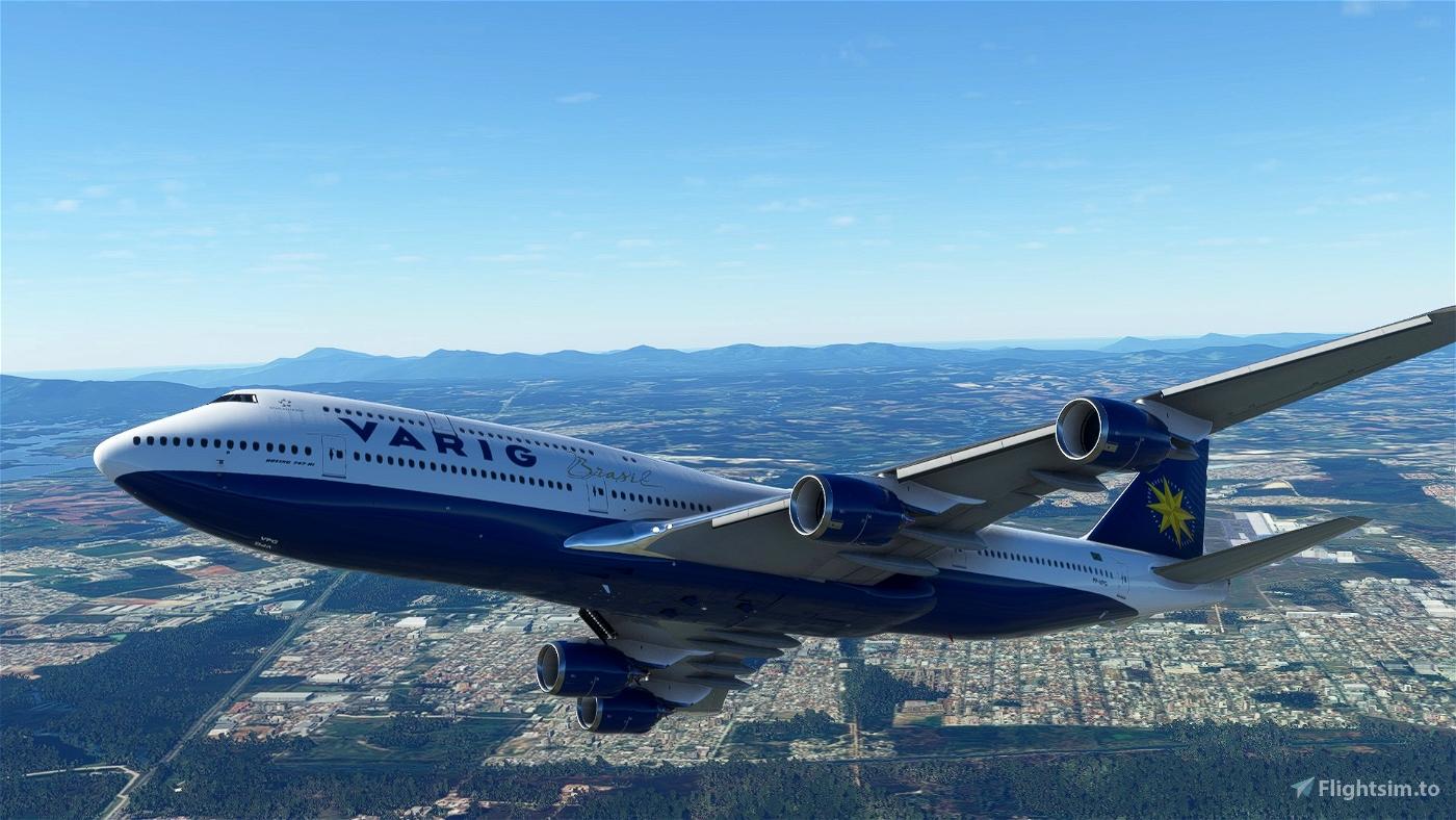 Asobo 747-8i Varig Brasil [Without mirroring]