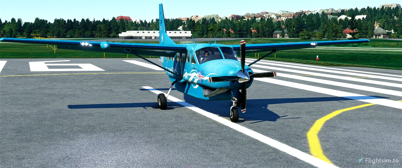Cessna 208 B weathered/washed out - RÚV Icelandic National Broadcasting Service - fictional