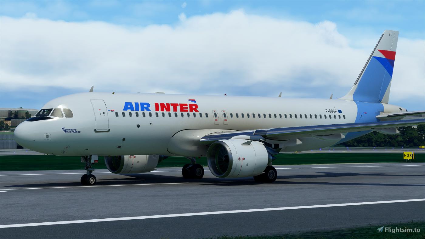 [A32NX] Air Inter New Version [8k - F-GGEF - Fictional]
