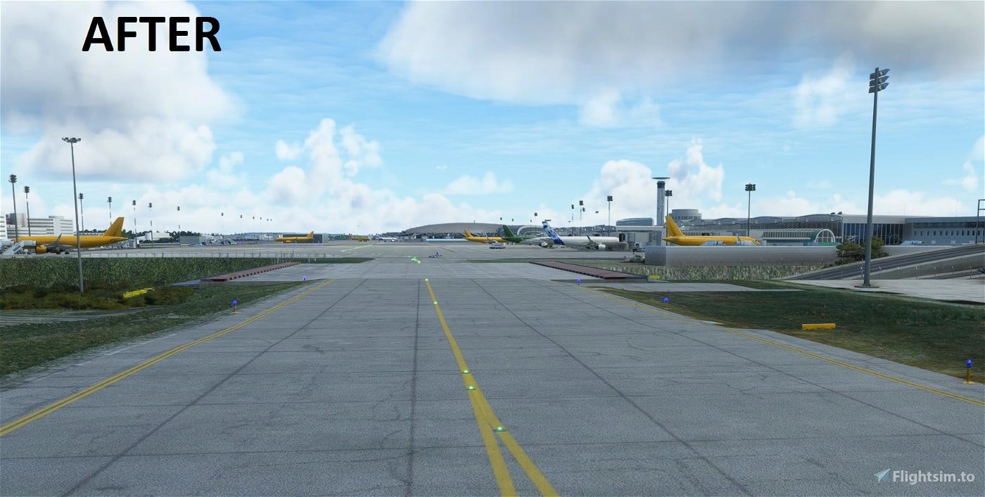 LFPG underpass taxiways flatten