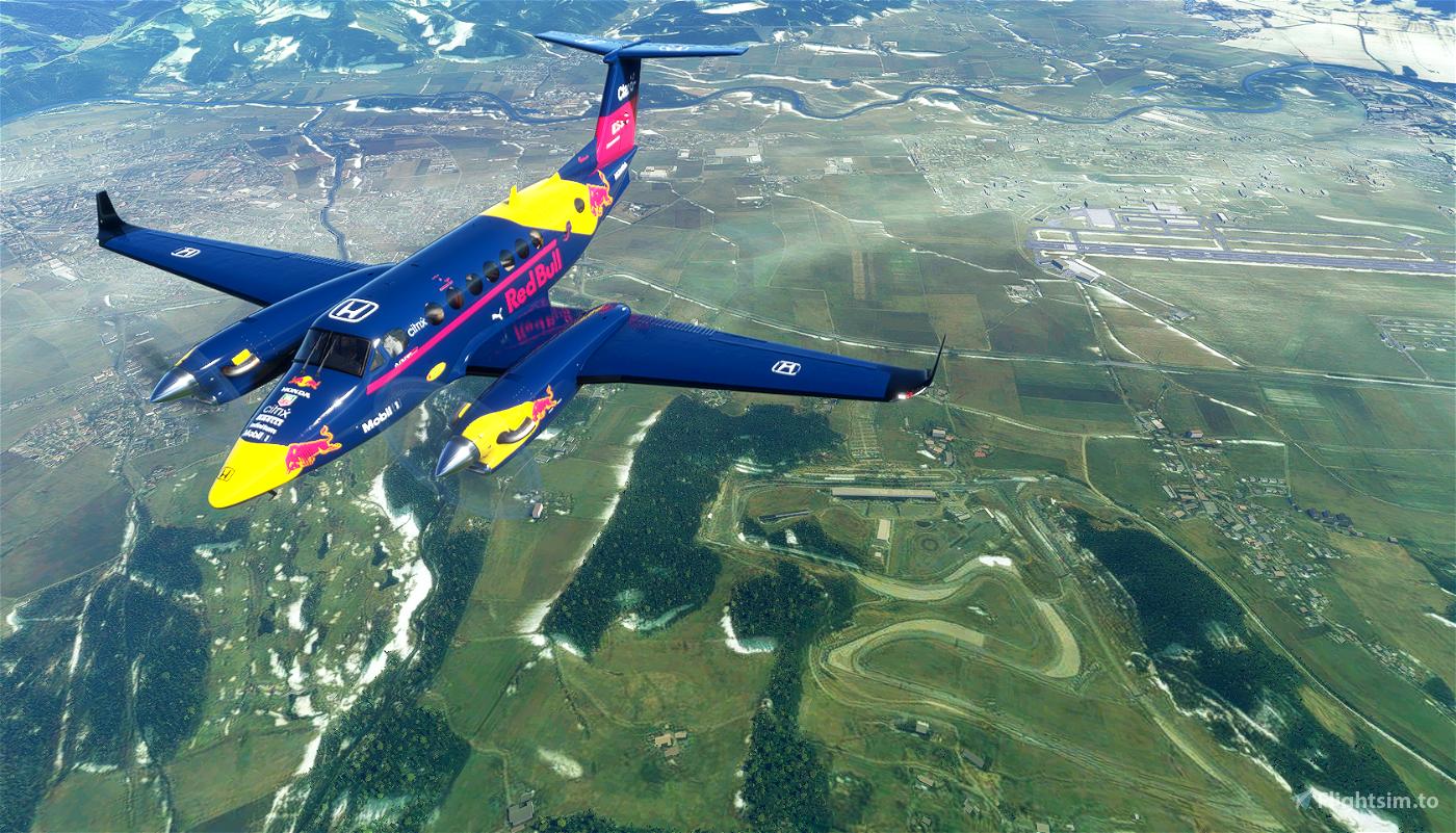 Red Bull F1 King Air 350i Microsoft Flight Simulator