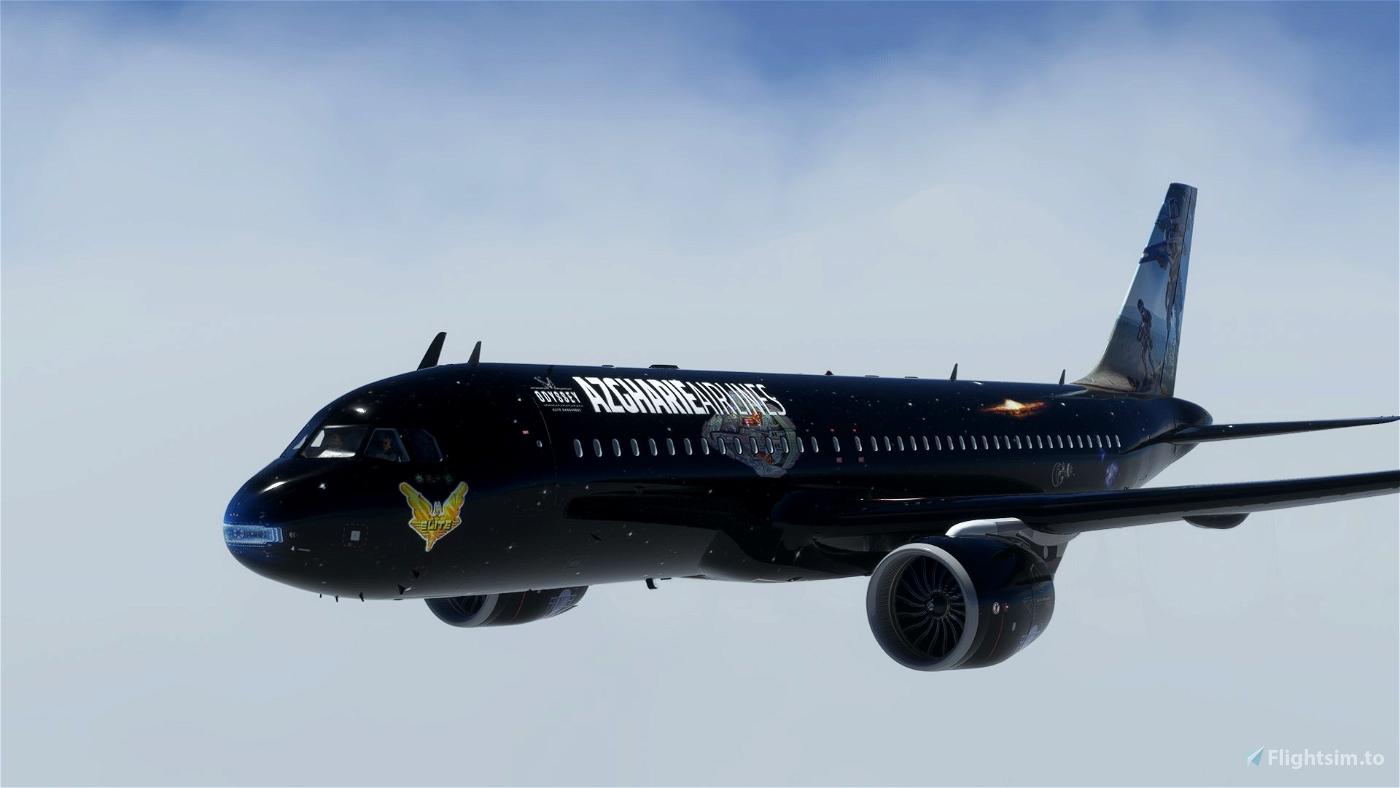 A32NX - Elite Dangerous - Azgharie Airlines - [Fictionnal] Microsoft Flight Simulator