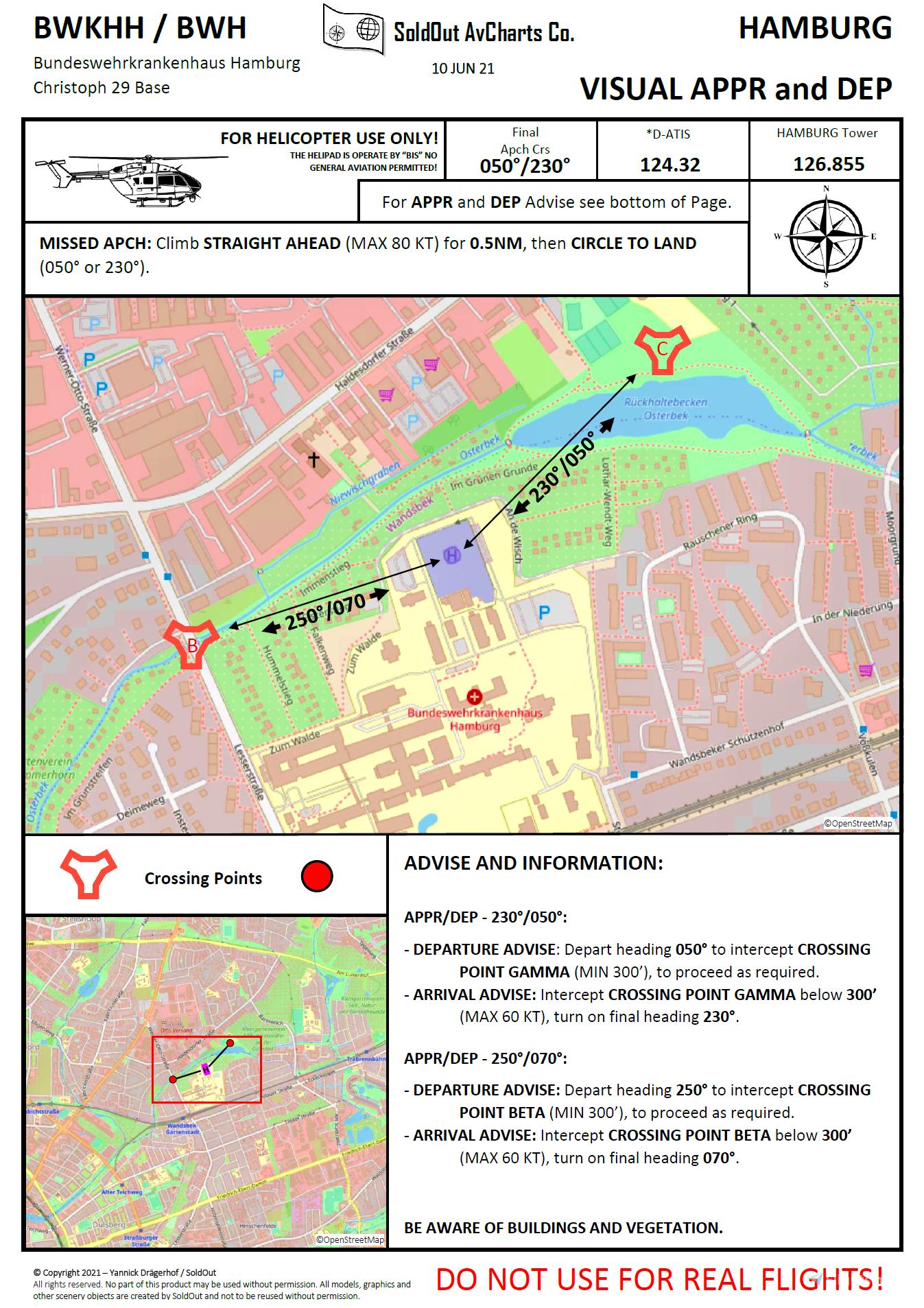 12 Hamburg Air Rescue Helipads + Charts for 2 Helipads!