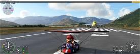 Mario Kart Microsoft Flight Simulator