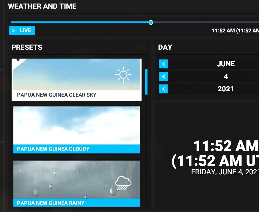 Weather Presets For Papua New Guinea Microsoft Flight Simulator