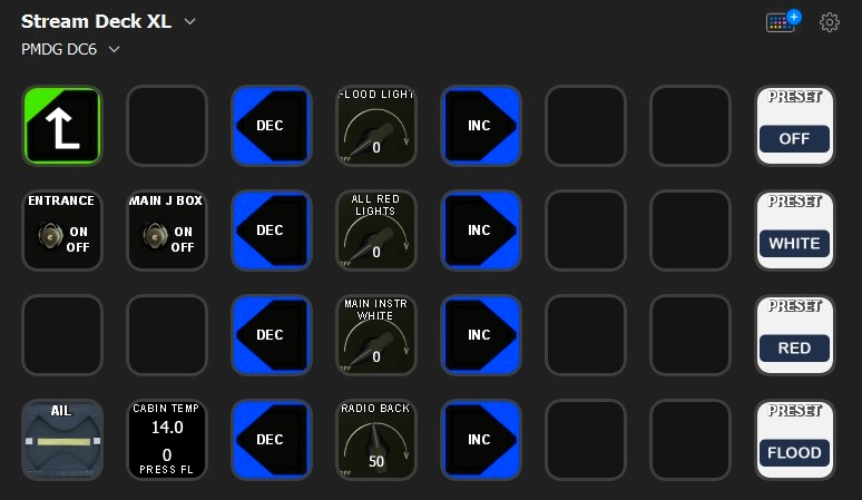 PMDG DC-6 profile for StreamDeck XL (for LORBYs AAO SD plugin)