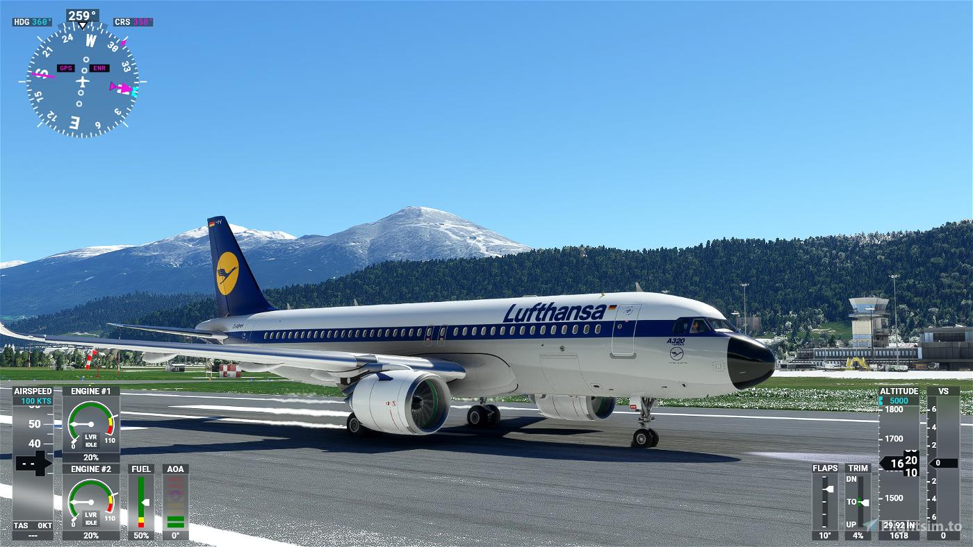 a320neo 8k LUFTHANSA-RETRO-70/80 Flight Simulator 2020