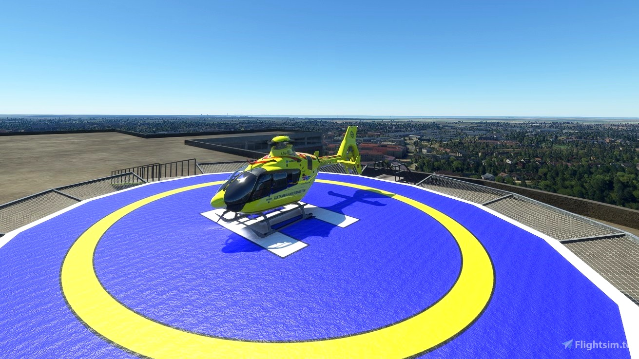 Swedish helipads Microsoft Flight Simulator