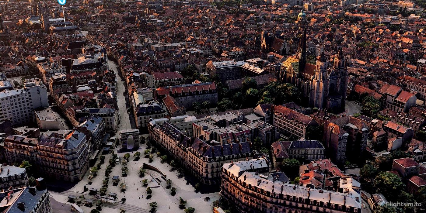 Dijon city & LFSD airport