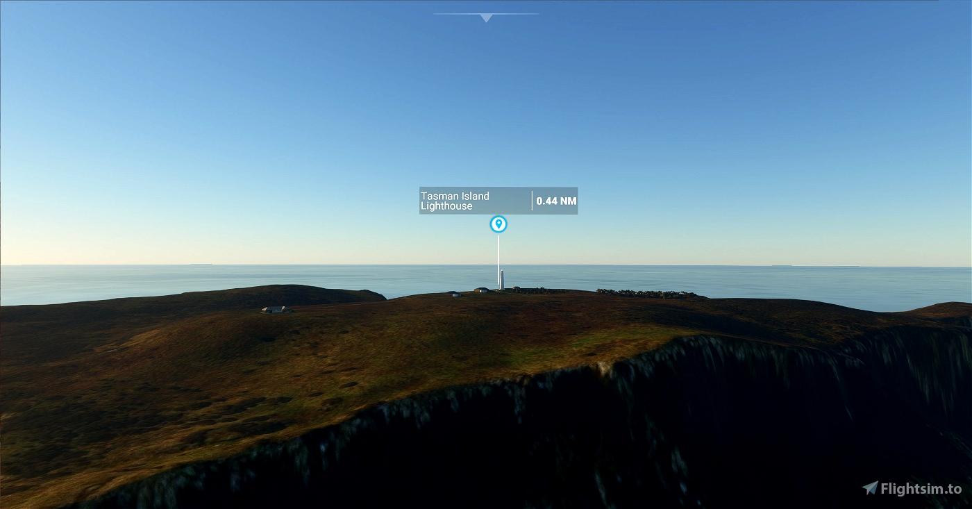Tasman Island Lighthouse, Tasmania Microsoft Flight Simulator