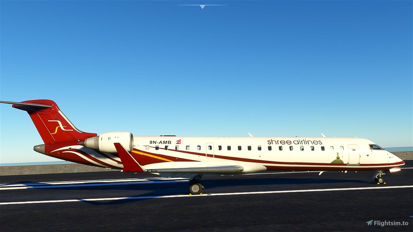 Shree Airlines CRJ 700 (9N-AMB) Microsoft Flight Simulator